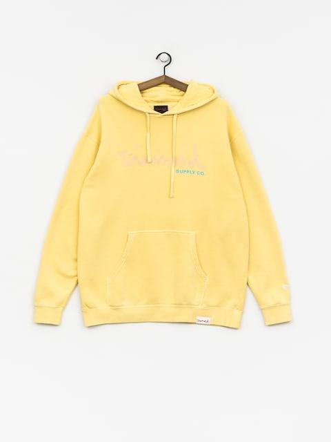 Bluza z kapturem Diamond Supply Co. Og Script Pigment Dyed HD (yellow)