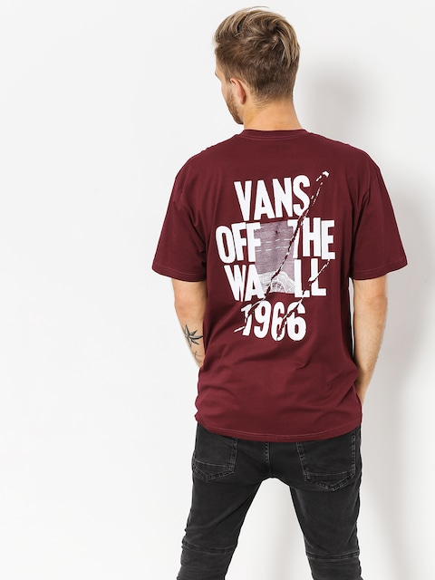 T-shirt Vans Cracked Pavement (burgundy)