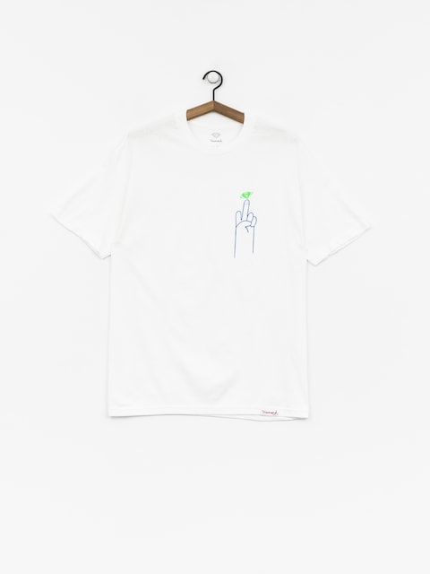 T-shirt Diamond Supply Co. No 1 Skatecore (white)