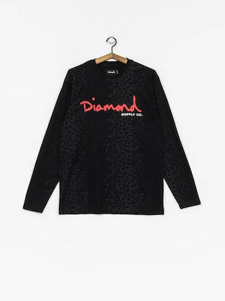 Longsleeve Diamond Supply Co. Cheetah Canvas Ls (black)