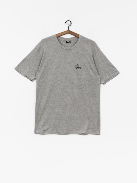 T-shirt Stussy Basic Stussy (grey heather)