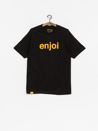 T-shirt Enjoi Helvetica Logo Price Point (black/orange)