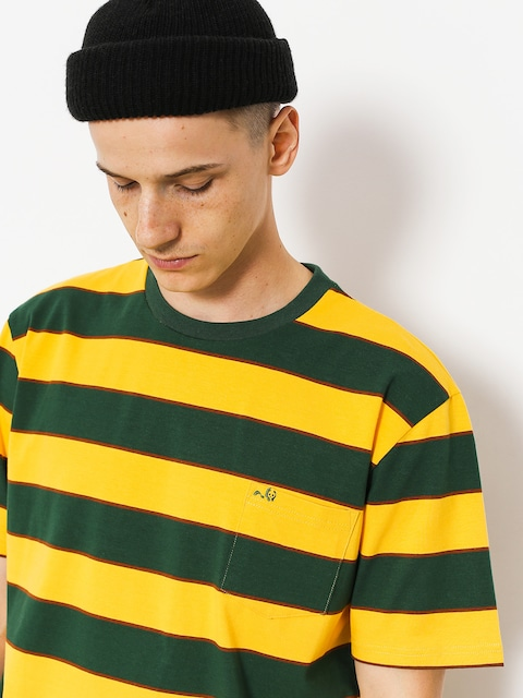 T-shirt Enjoi Slappy Knit (fade gold/green/brown stripe)