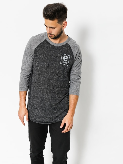 Koszulka Etnies Stack Box Raglan (grey/heather)