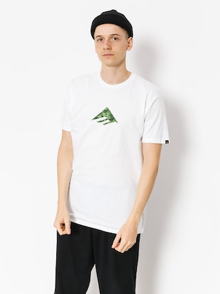 T-shirt Emerica Emerica Triangle (white/green)