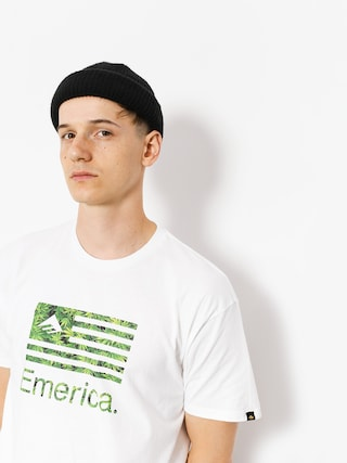 T-shirt Emerica Pure Flag (white/green)