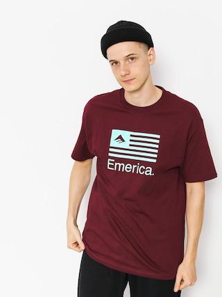 T-shirt Emerica Pure Flag (burgundy)