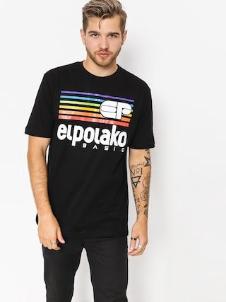 T-shirt El Polako Rainbow (black)