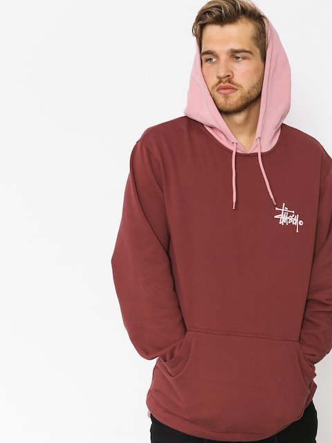 Bluza z kapturem Stussy Two Tone HD (burgundy)