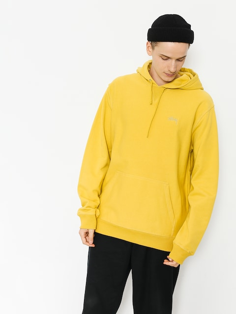 Bluza z kapturem Stussy Stock Terry HD (lemon)