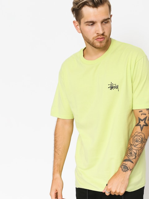 T-shirt Stussy Basic Stussy (pale green)