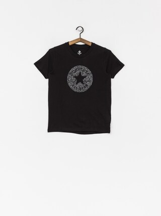 T-shirt Converse Reptile Chuck Patch Wmn (black)