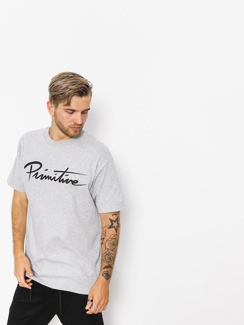 T-shirt Primitive Nuevo Pennant Core (grey heather)