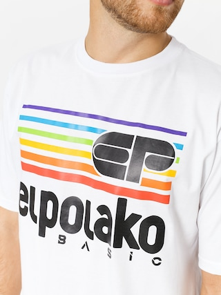T-shirt El Polako Rainbow (white)