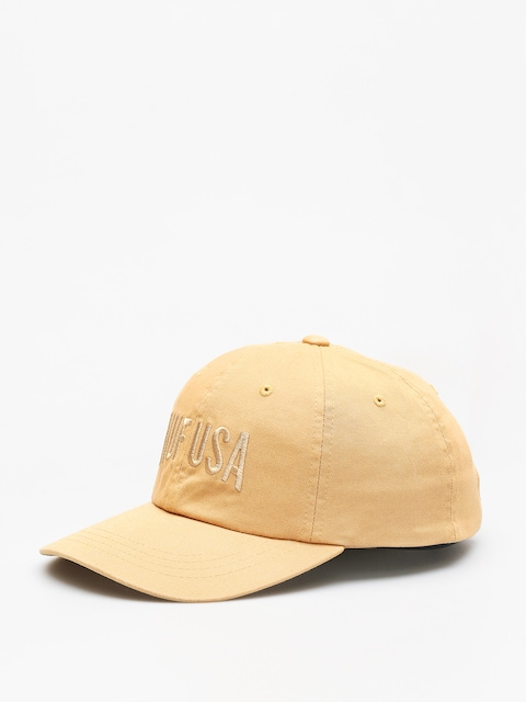 Czapka z daszkiem HUF Team Curved Visor 6 Pannel ZD (honey mustard)