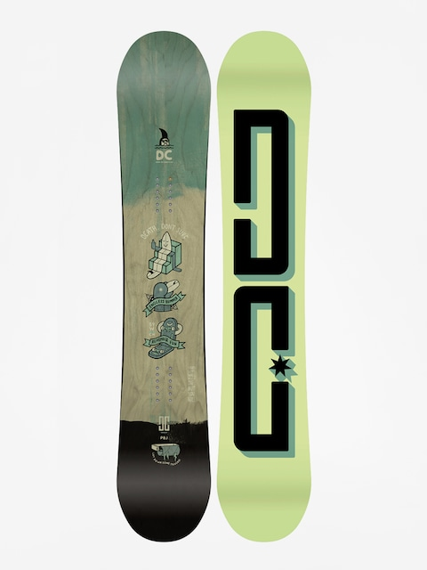 Deska snowboardowa DC Pbj (lime/black)
