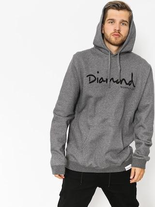 Bluza z kapturem Diamond Supply Co. Og Script HD (gunmetal heather)
