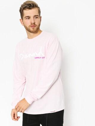 Longsleeve Diamond Supply Co. Og Script (pink)