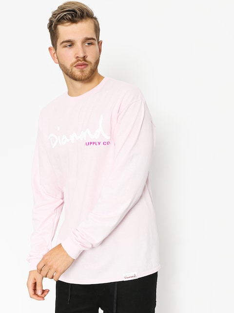 Longsleeve Diamond Supply Co. Og Script (pink)