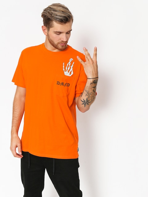 T-shirt Diamond Supply Co. Hand Signs Pocket (orange)