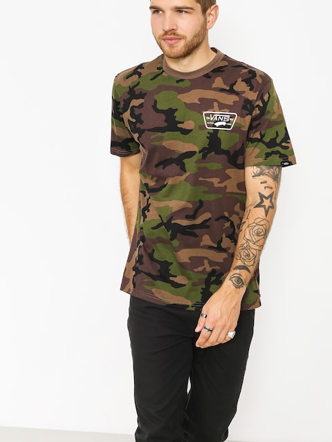 T-shirt Vans Full Patch Back (camo/white)
