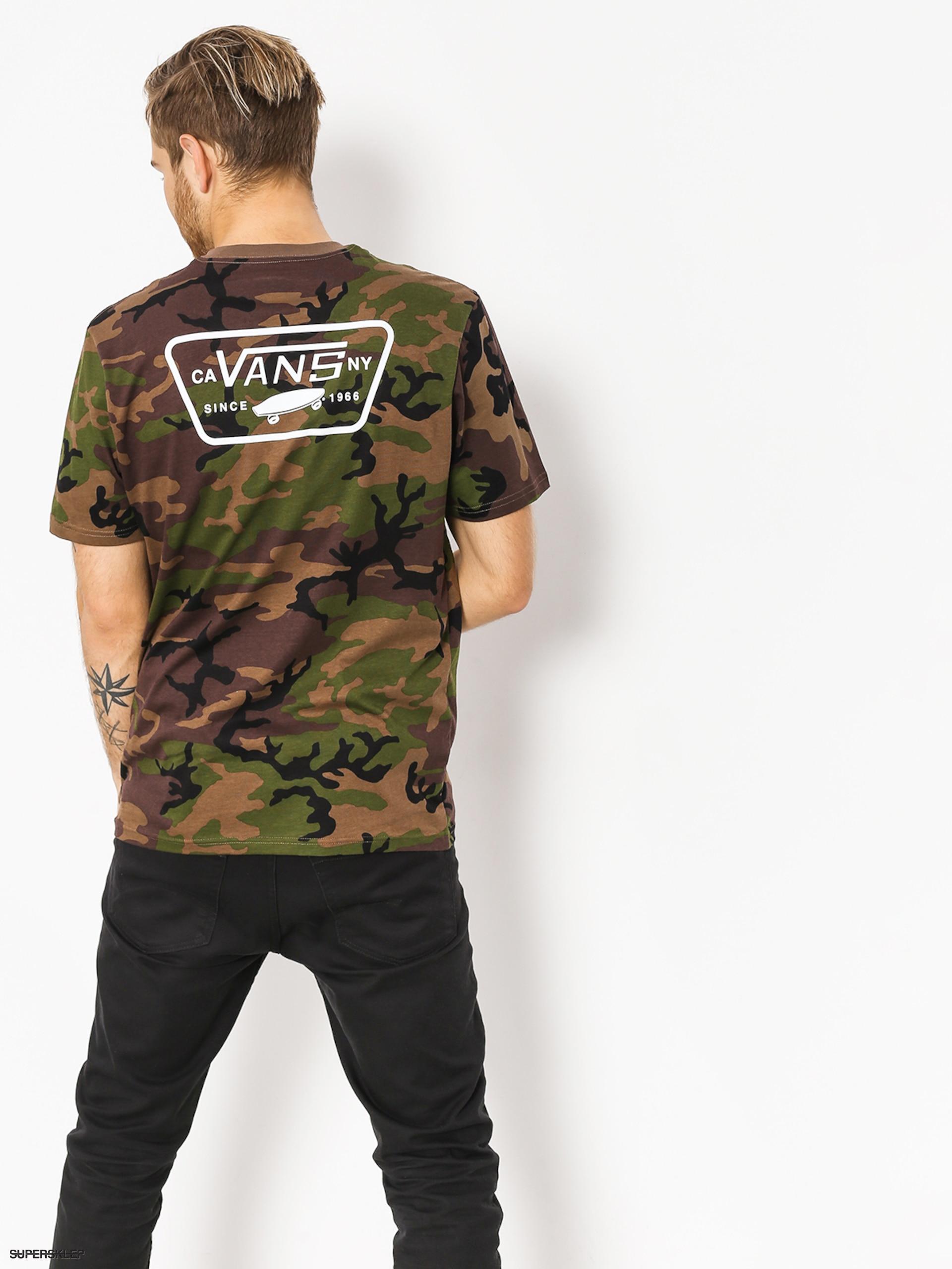 8335587bcd T-shirt Vans Full Patch Back (camo white)