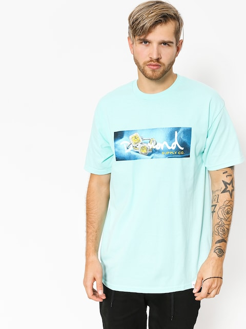 T-shirt Diamond Supply Co. Citrine Box Logo (diamond blue)