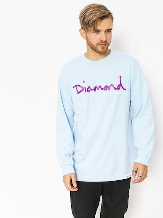 Longsleeve Diamond Supply Co. Og Script (powder blue)