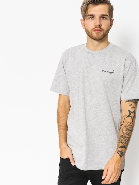 T-shirt Diamond Supply Co. Micro Og Script (heather grey)