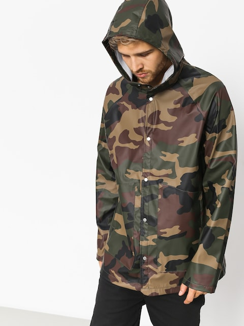 Kurtka Herschel Supply Co. Rainwear Classic (woodland camo/white classic logo)
