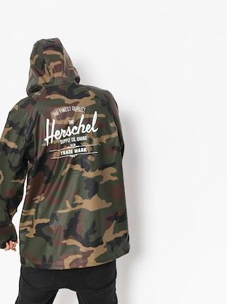 Kurtka Herschel Supply Co. Rainwear Classic (woodland camo/white classic logo)