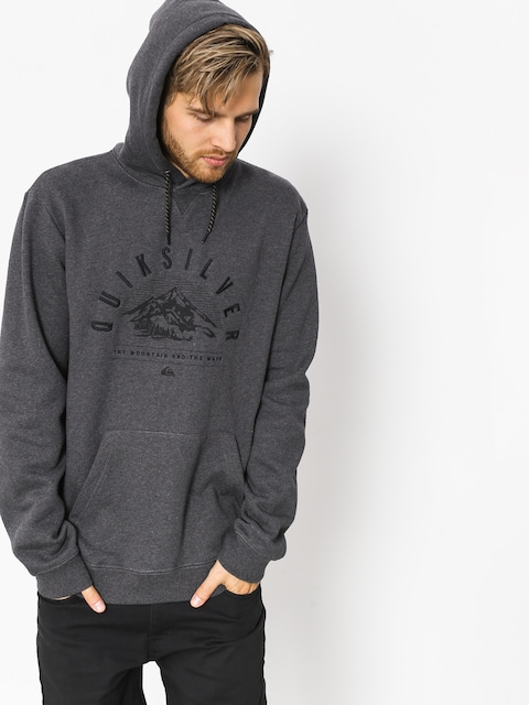 Bluza aktywna Quiksilver Big Logo Snow (black heather)