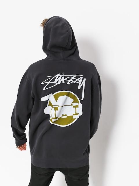 Bluza z kapturem Stussy Skateman Pig Dyed HD (black)