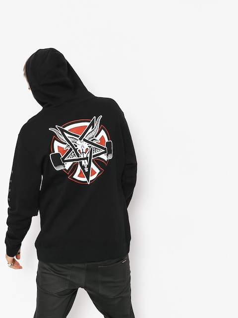 Bluza z kapturem Independent x Thrasher Pentagram Cross HD (black)