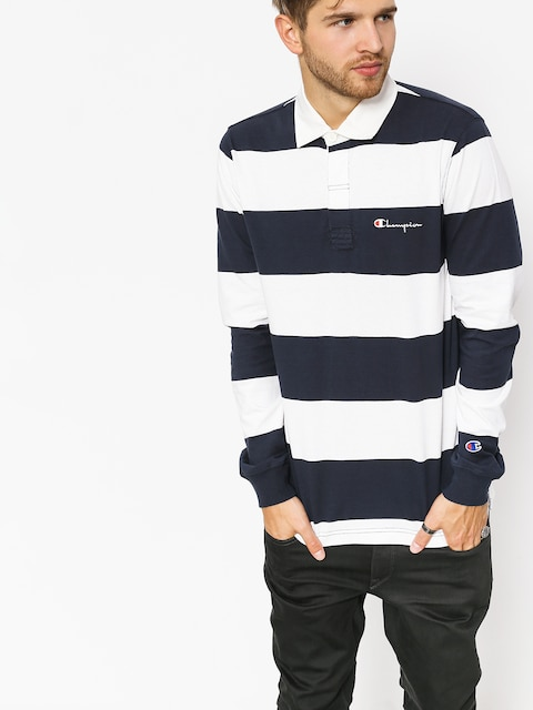 Longsleeve Champion Long Sleeve Polo T Shirt (nny/wht)
