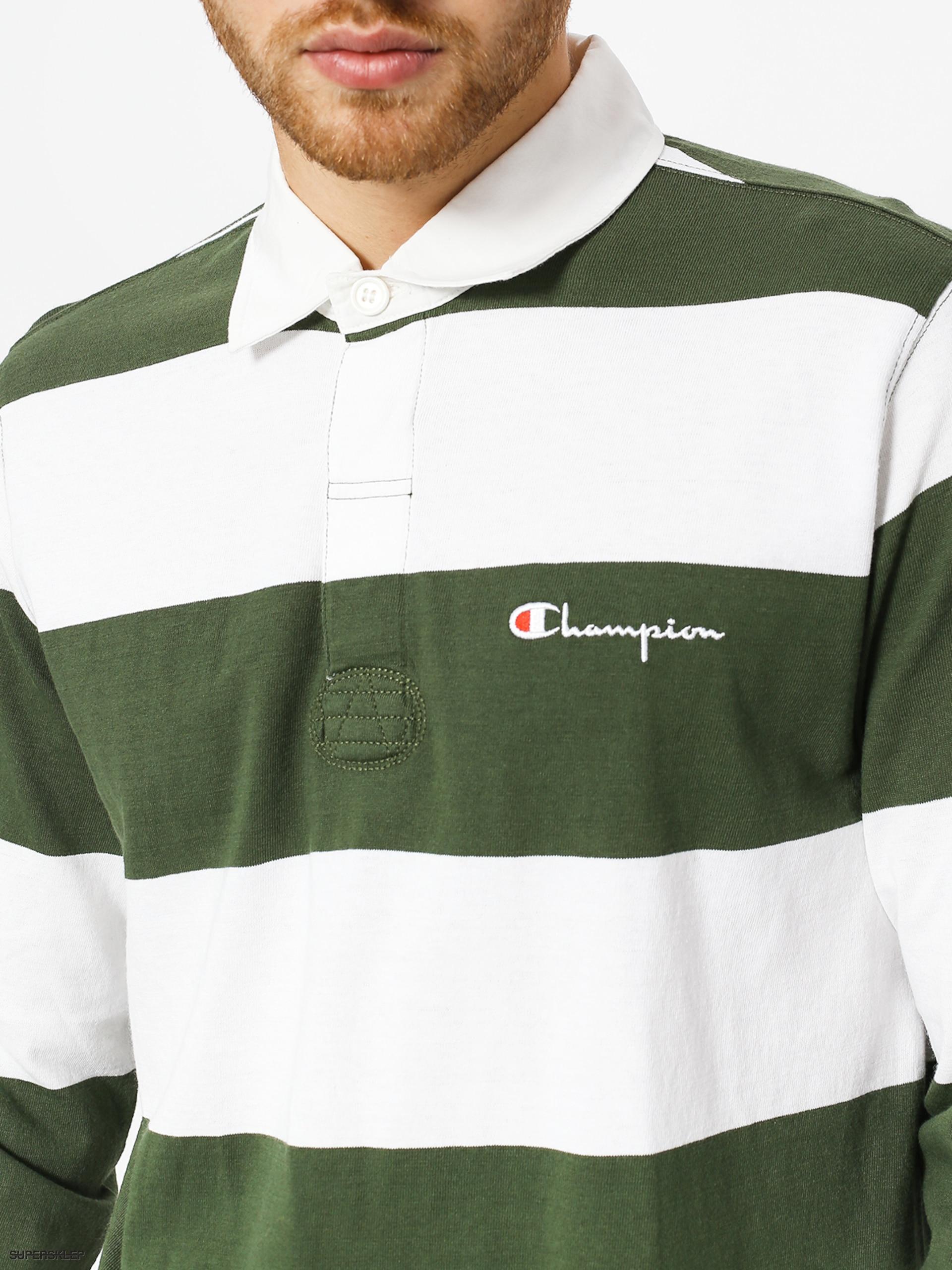 aff13dd8 Longsleeve Champion Long Sleeve Polo T Shirt (baf/wht)