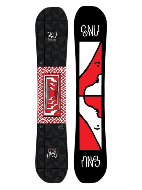 Deska snowboardowa Gnu Asym Fb Space Case C2X (black)
