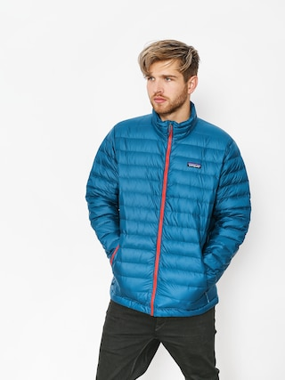 Kurtka Patagonia Down Sweater (big sur blue w/fire red)