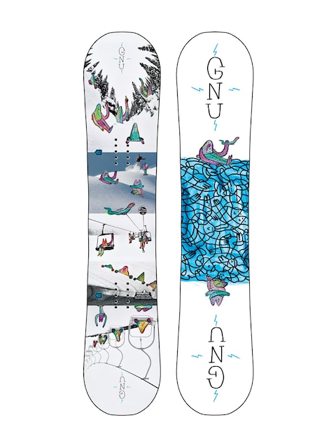 Deska snowboardowa Gnu Asym Recess Btx (multi)