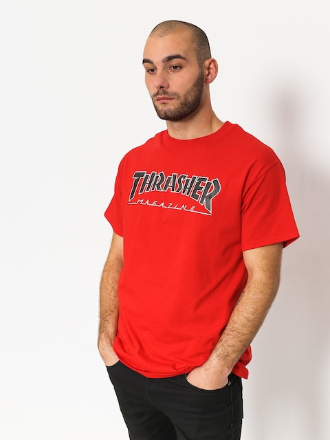 T-shirt Thrasher Outlined Bts (red)