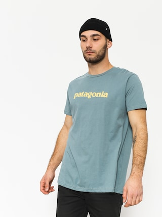 T-shirt Patagonia Text Logo Organic (shadow blue)