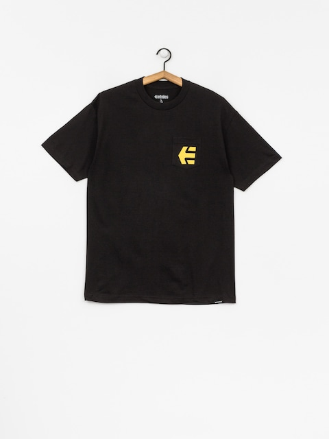 T-shirt Etnies Icon Pocket (black/gold)