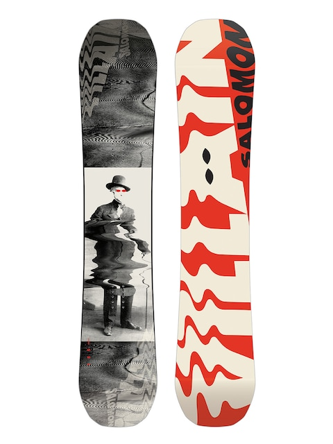 Deska snowboardowa Salomon The Villain (red/white/black)