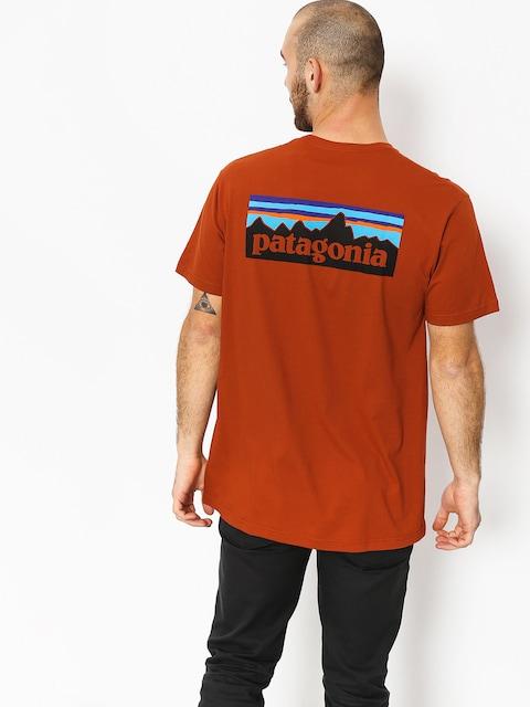 T-shirt Patagonia Logo Organic (copper ore)