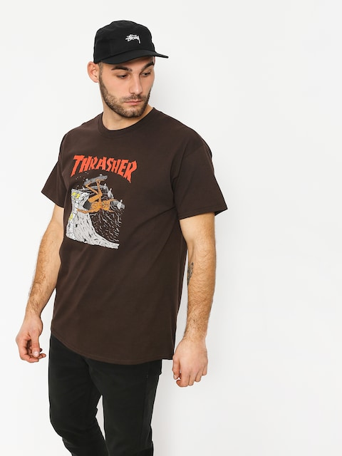 T-shirt Thrasher Nackface Invert (brown)