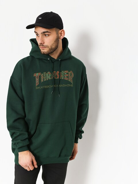 Bluza z kapturem Thrasher Davis Forest HD (green)