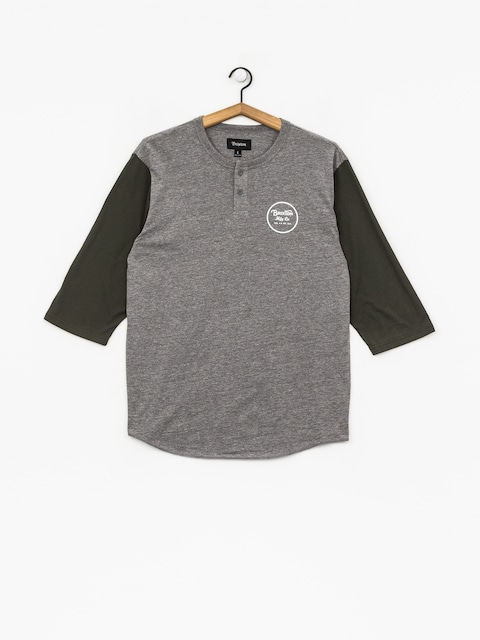T-shirt Brixton Wheeler 3/4 Slv Hnly (heather grey/pine)