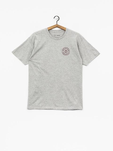 T-shirt Brixton Oath Stt (heather grey/burgundy)