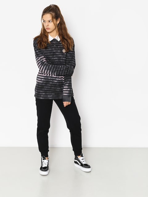 Longsleeve Stussy Lucy Bleach Stripe Rugby Wmn (charcoal)