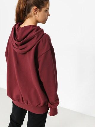 Bluza z kapturem Stussy Kira HD Wmn (burgundy)